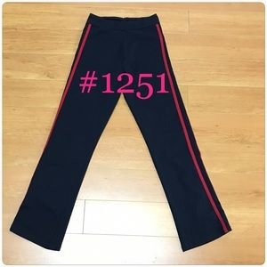 BM John Galt Navy Blue With Red Stripes Yoga Pant